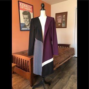 CALVIN KLEIN colorblock duster style jacket